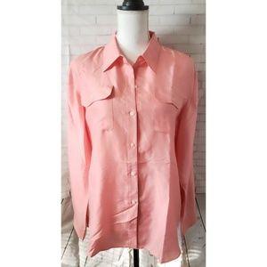 Ralph Lauren Women's 100% Silk Button Down Top 14